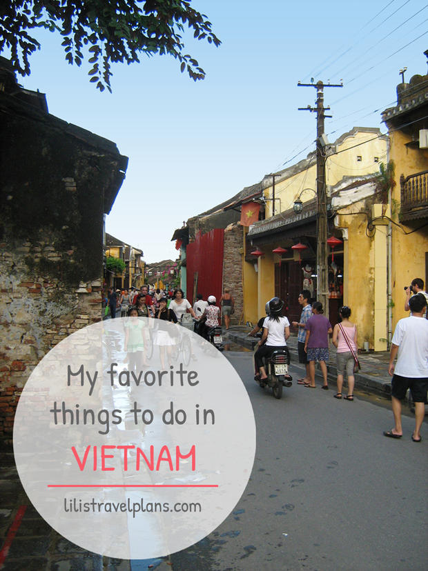 MY FAVORITE THINGS TO DO IN VIETNAM