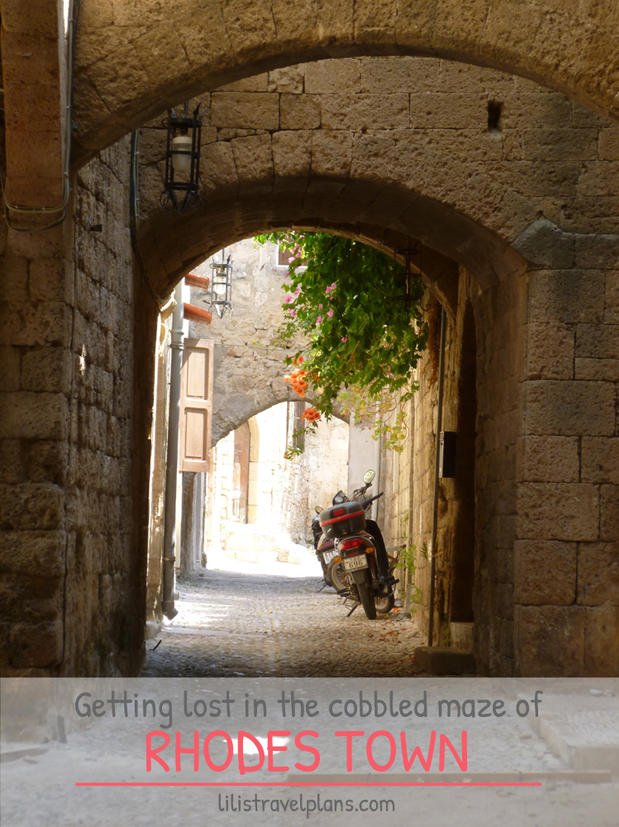 GETTING LOST IN THE COBBLED MAZE OF RHODES TOWN