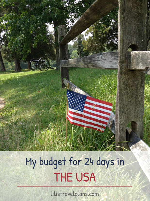 MY TRAVEL BUDGET FOR 26 DAYS IN THE USA